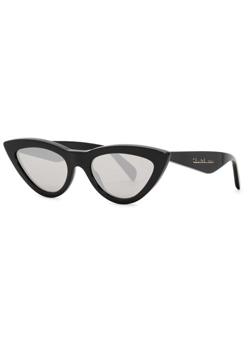 277a6b6429fab Celine Black mirrored cat-eye sunglasses - Harvey Nichols