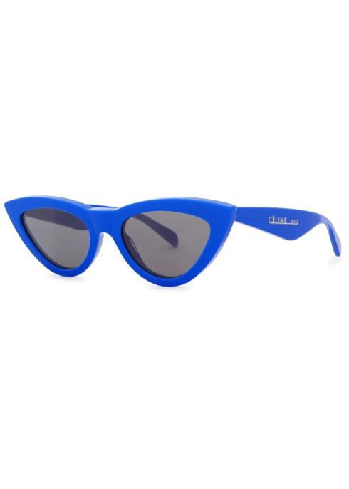 6c09f443e498f Celine Blue cat-eye sunglasses - Harvey Nichols