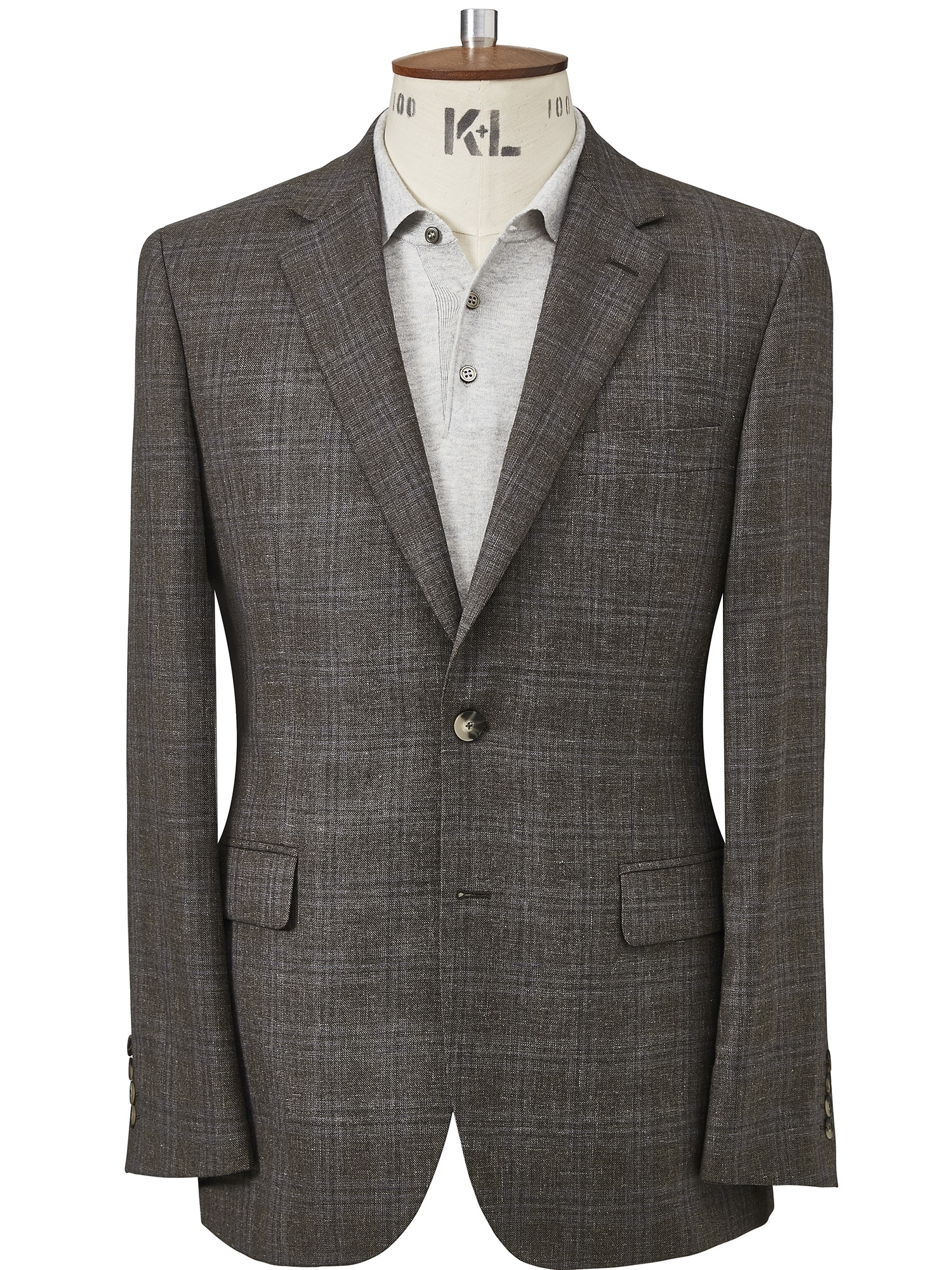 CHESTER BY CHESTER BARRIE | Chester By Chester Barrie Wool Silk And Linen Check Jacket | Goxip