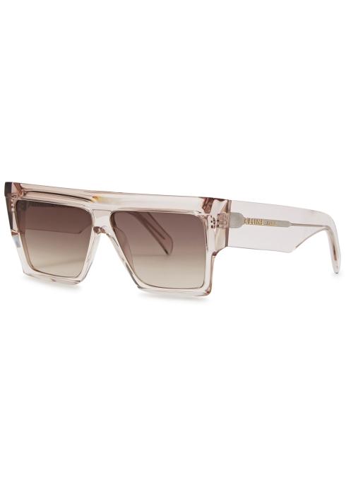 Pale Pink D Frame Sungles Celine