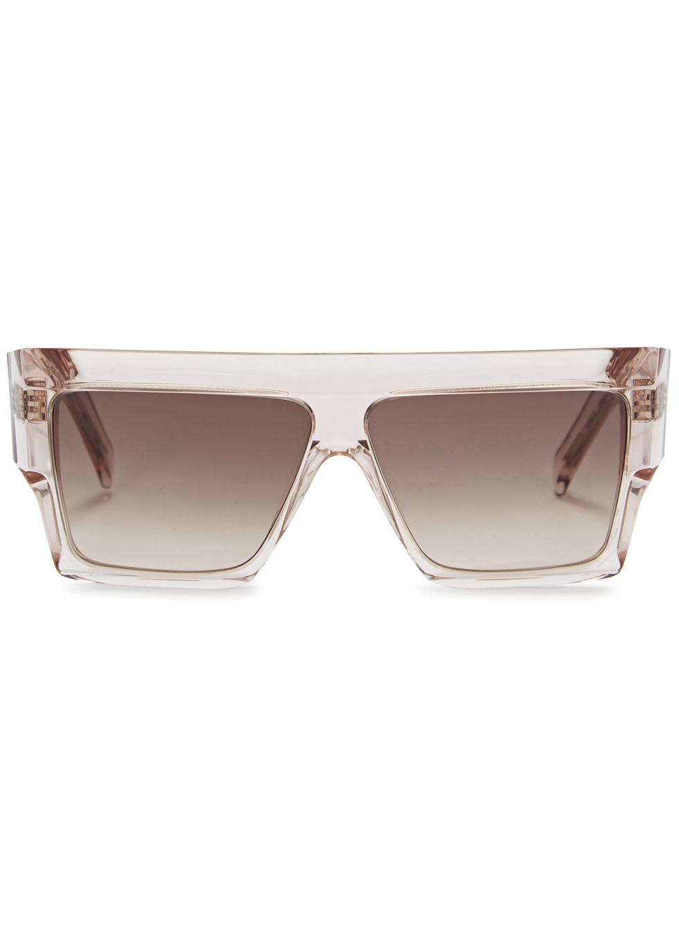Pale pink D-frame sunglasses - Celine