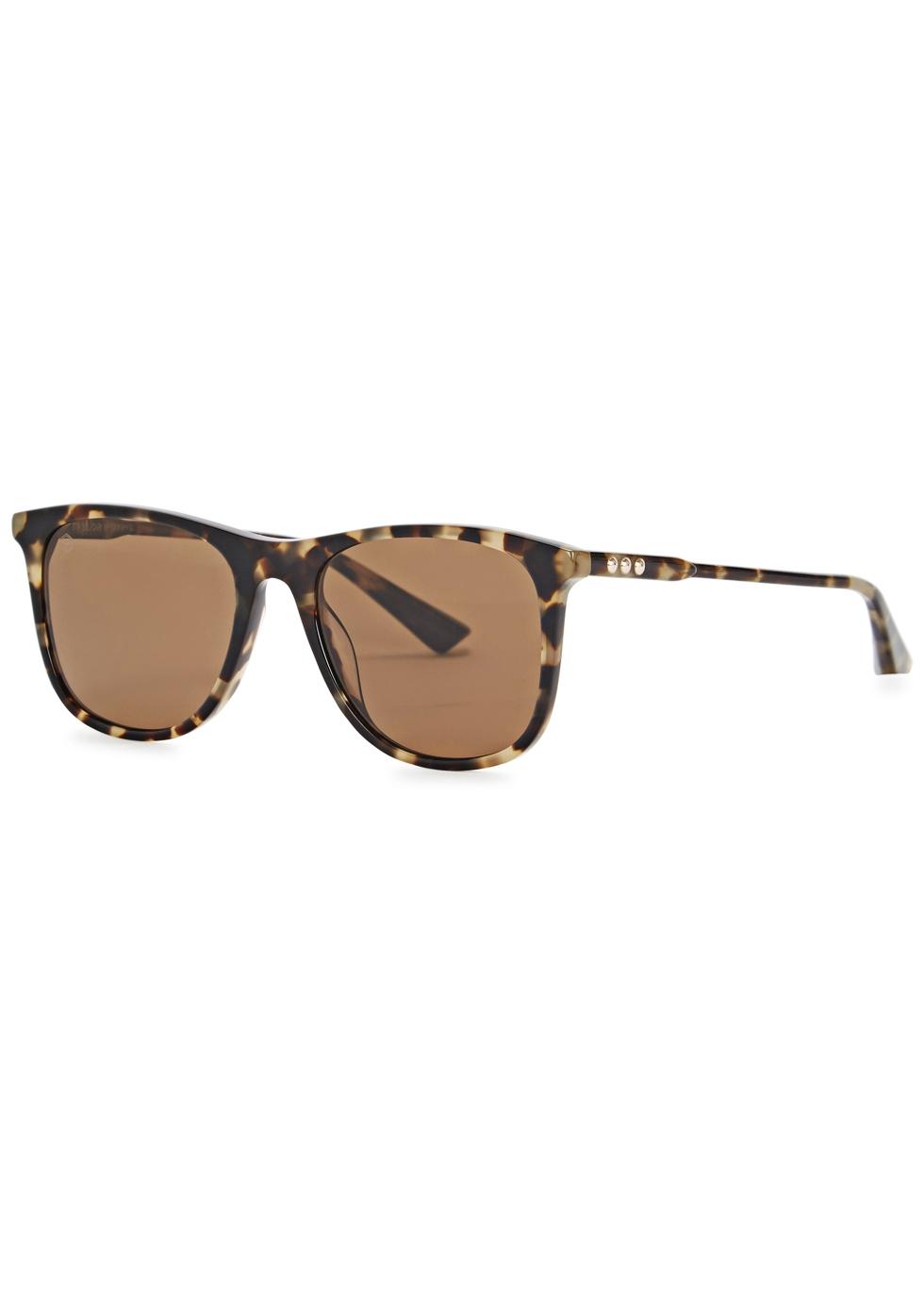 TAYLOR MORRIS EYEWEAR Raleigh Wayfarer-Style Sunglasses in Havana