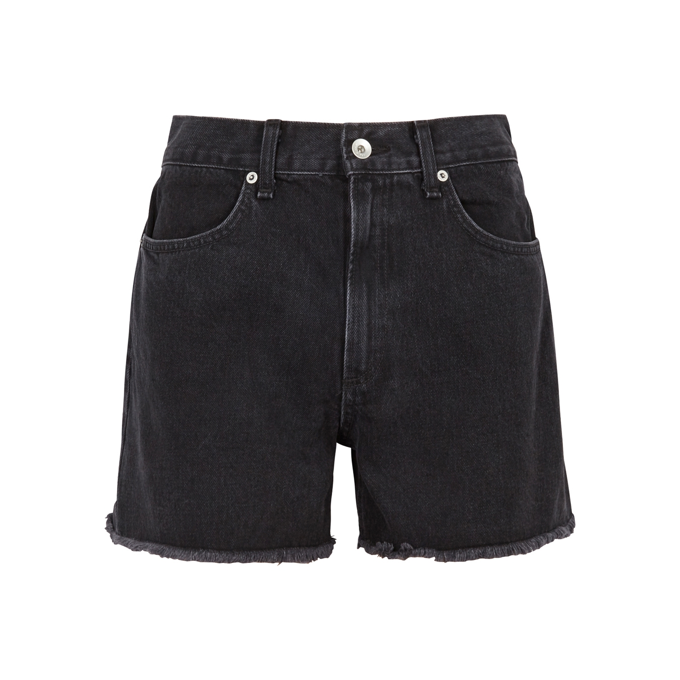 1e26f4a8d1 rag & bone Torti black frayed denim shorts - Harvey Nichols
