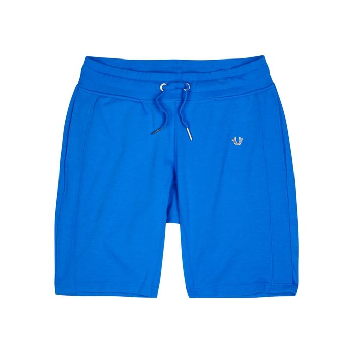 True Religion Bright Blue Jersey Shorts