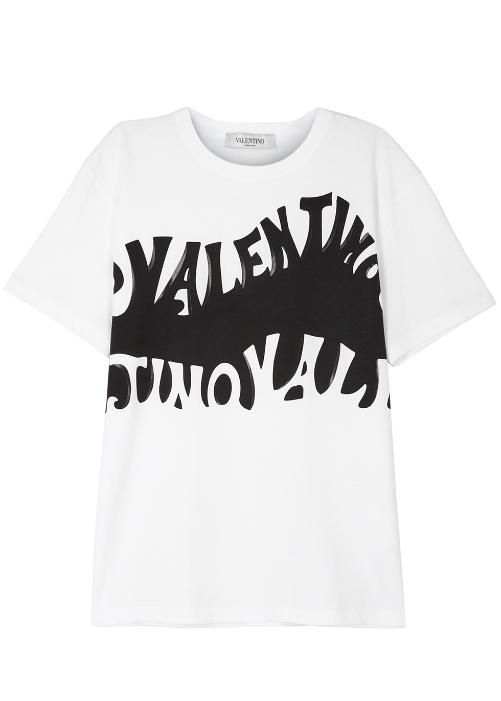Logo Printed Jersey T-Shirt, White And Black