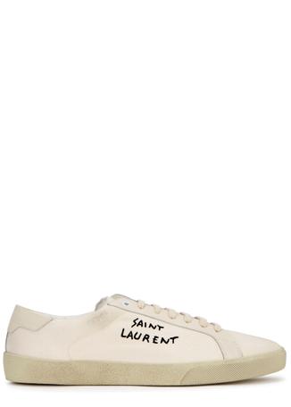 77cf9dfc7bd Saint Laurent Low-Top Trainers - Mens - Harvey Nichols