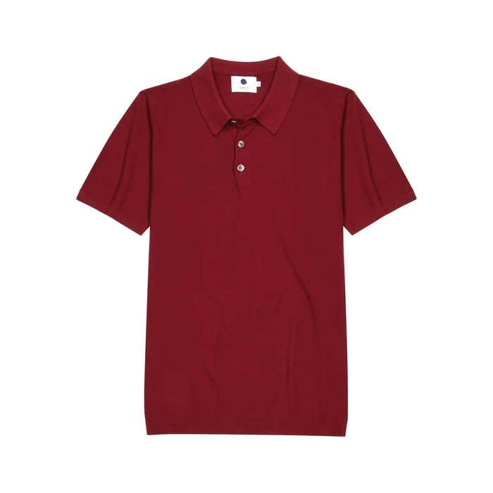 NN07 Magnus Red Stretch-knit Polo Shirt