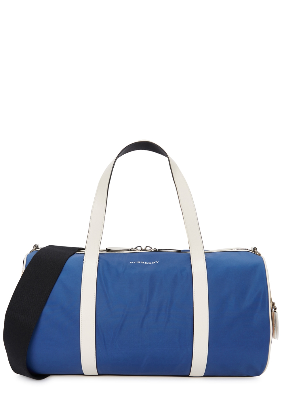 BURBERRY BLUE VINTAGE-CHECKED CANVAS HOLDALL