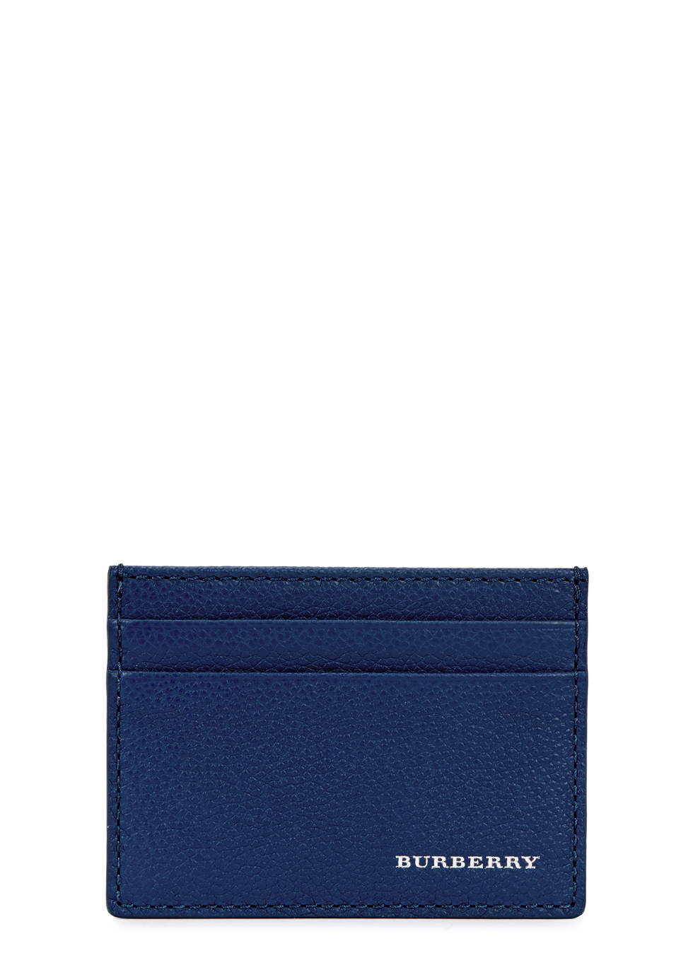 BURBERRY DARK BLUE LEATHER CARD HOLDER