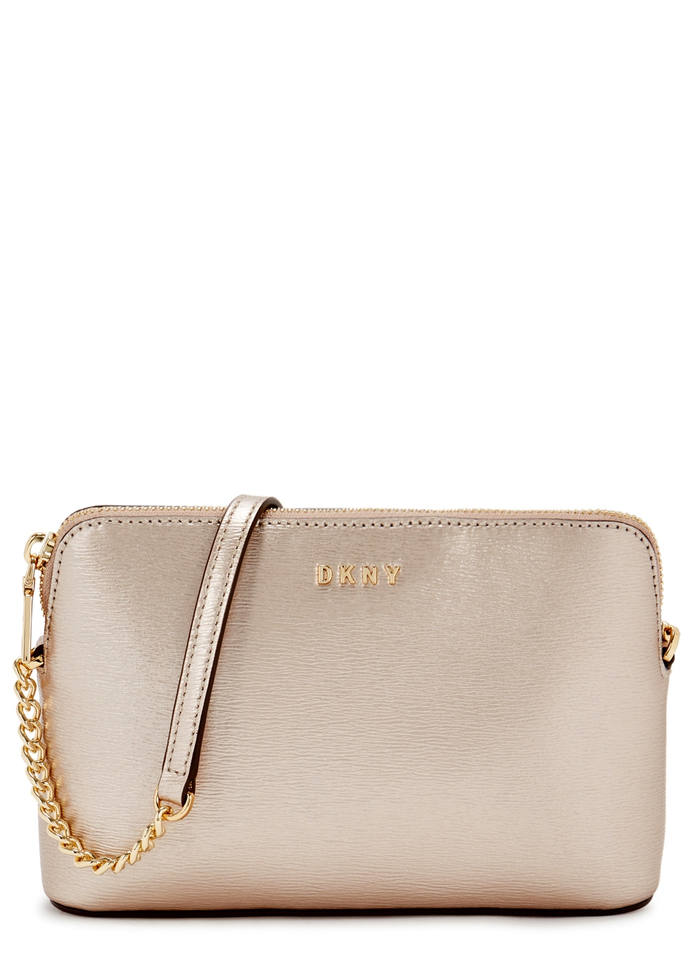 BRYANT PALE ROSE GOLD LEATHER CROSS-BODY BAG
