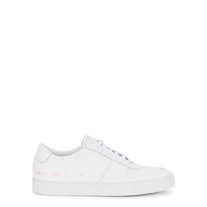 Common Projects B-BALL WHITE LEATHER TRAINERS