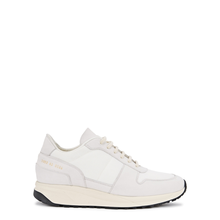 Common Projects TRACK VINTAGE RUNNER WHITE MESH TRAINERS