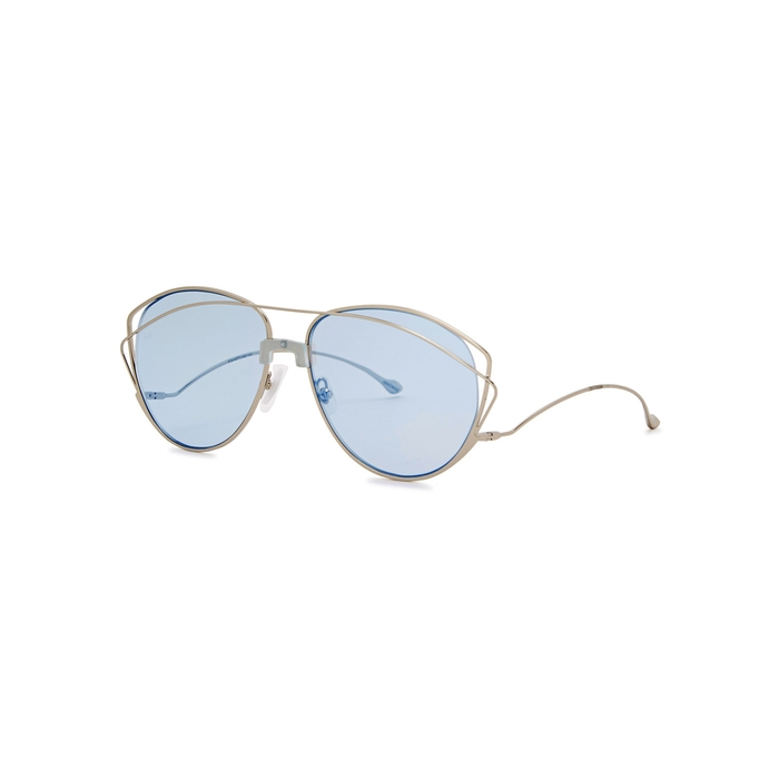 14513bed6e2 FOR ART S SAKE Dark Eyes Aviator-style Sunglasses