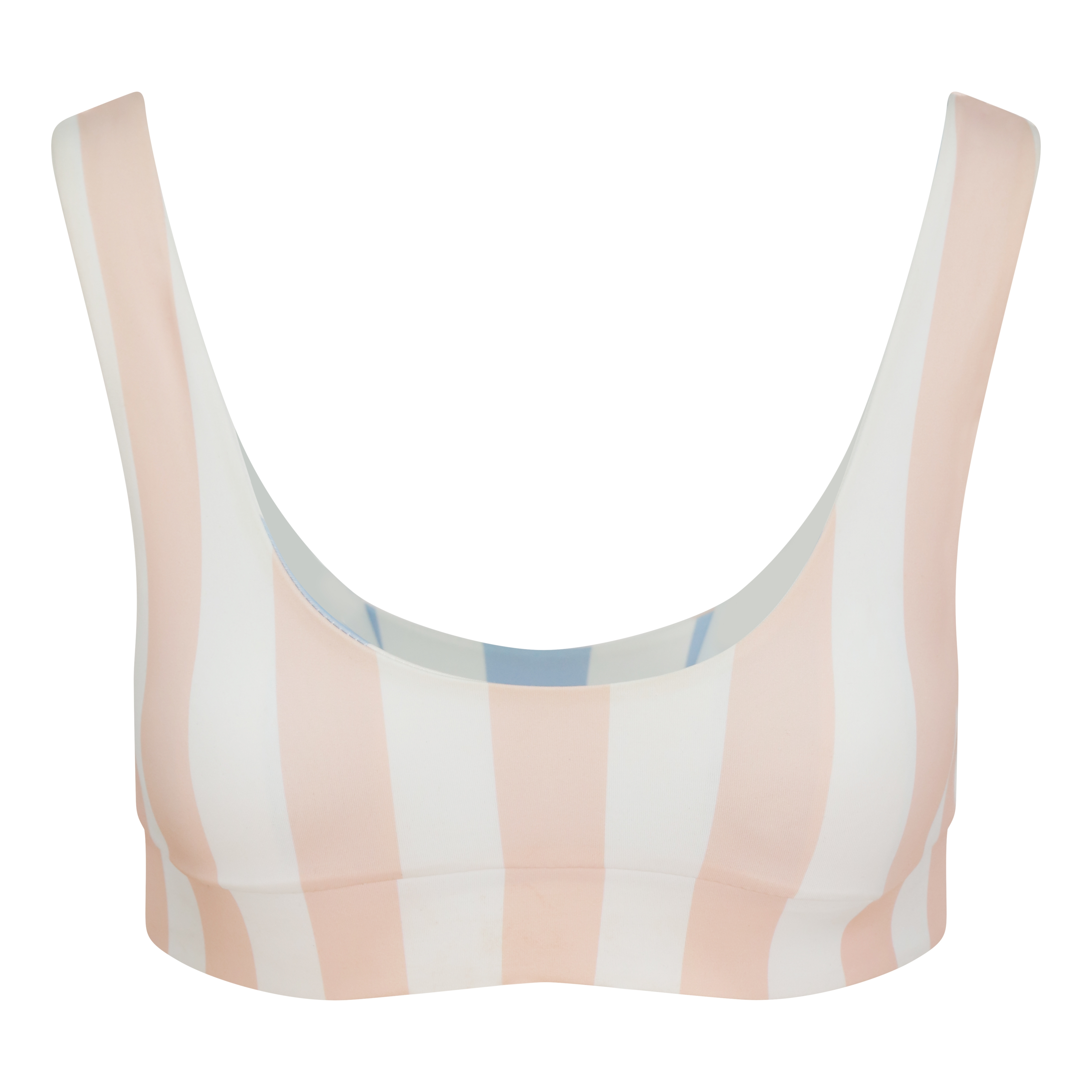 MARBLE SWIMWEAR Camille Top - Serenity Blue - Rose Pink