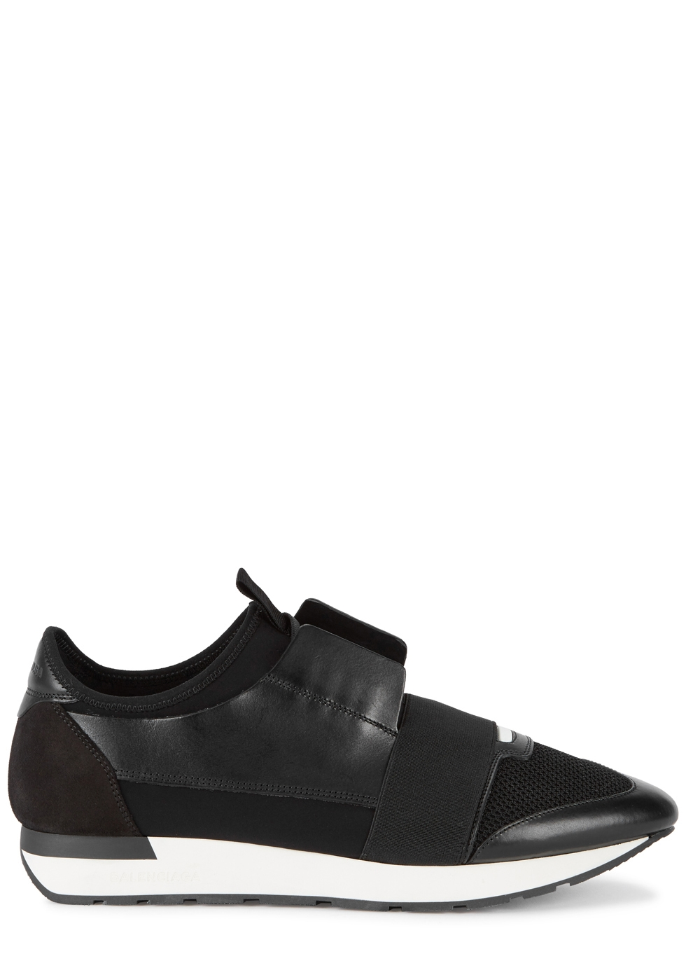 BALENCIAGA RACE BLACK PANELLED TRAINERS