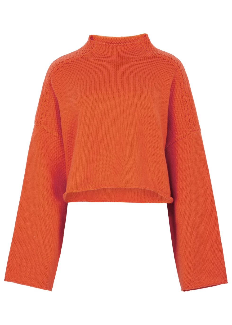 J.W.ANDERSON ORANGE CROPPED WOOL-BLEND JUMPER