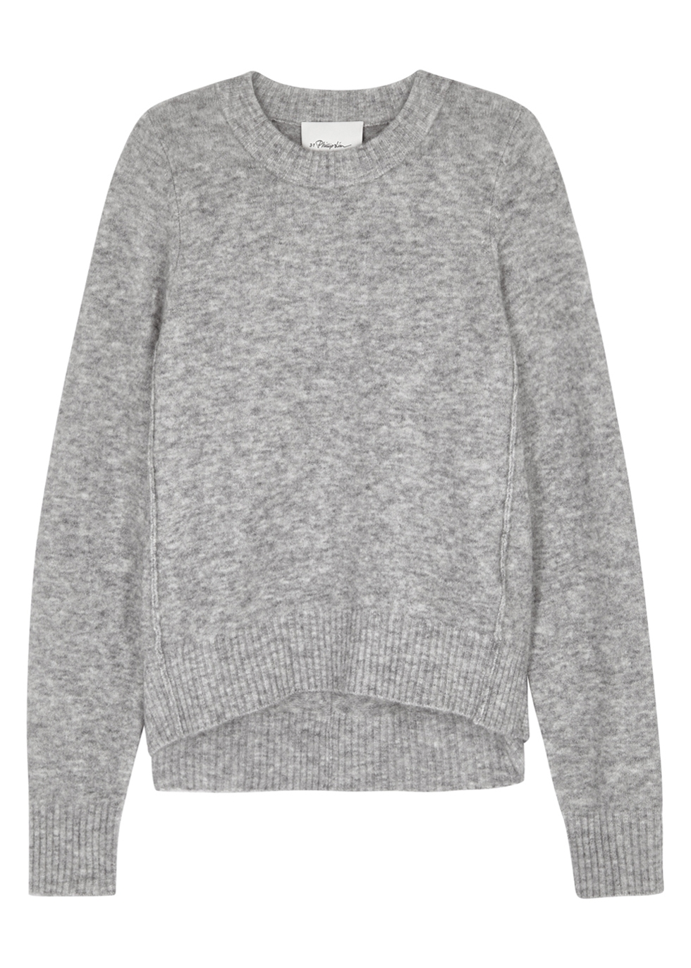 GREY MÉLANGE KNITTED JUMPER