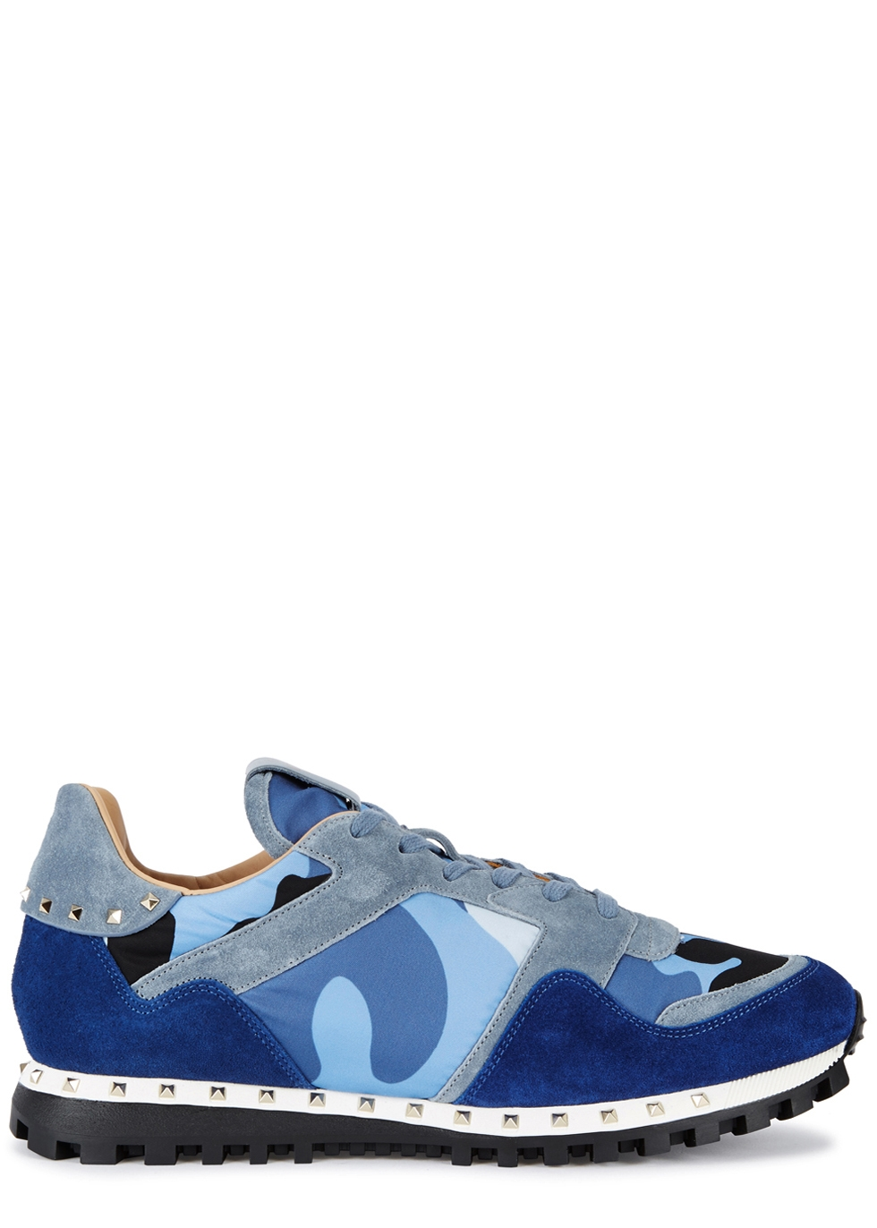 VALENTINO RUNNER CAMOUFLAGE-PRINT SUEDE TRAINERS