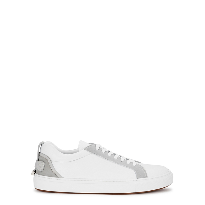 Buscemi LYNDON SPORT WHITE LEATHER TRAINERS