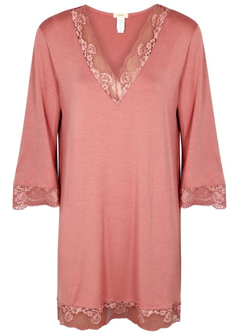 e70a02249 Eberjey Noor lace-trimmed jersey night dress - Harvey Nichols