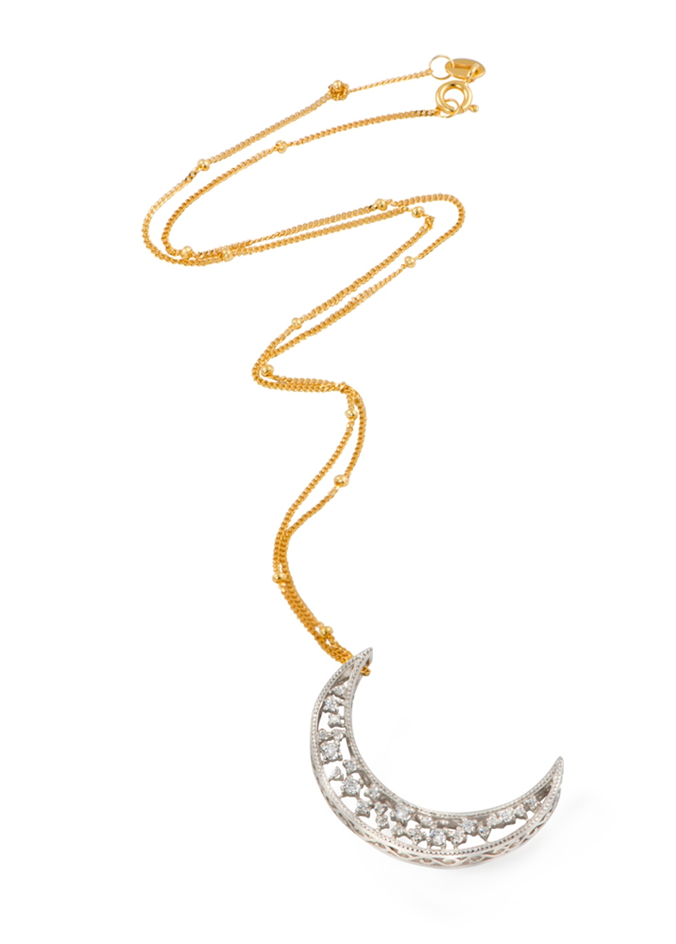 APPLES & FIGS Celestial Crescent Moon Pendant