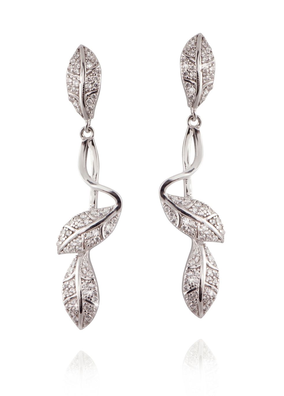 APPLES & FIGS CURVE FLORAL EARRINGS