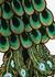 Peacock feather-appliquéd cotton T-shirt - RAGYARD