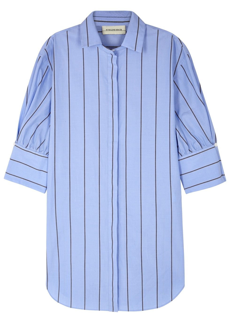 KIRIE BLUE STRIPED POPLIN SHIRT