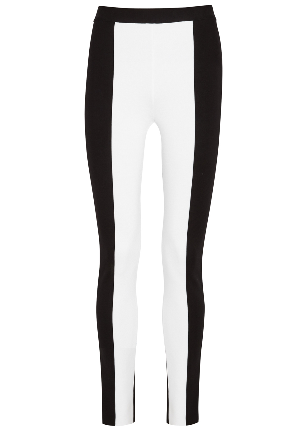 MONOCHROME STRETCH-KNIT LEGGINGS