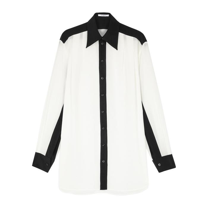 Givenchy Silks MONOCHROME OVERSIZED SILK SHIRT