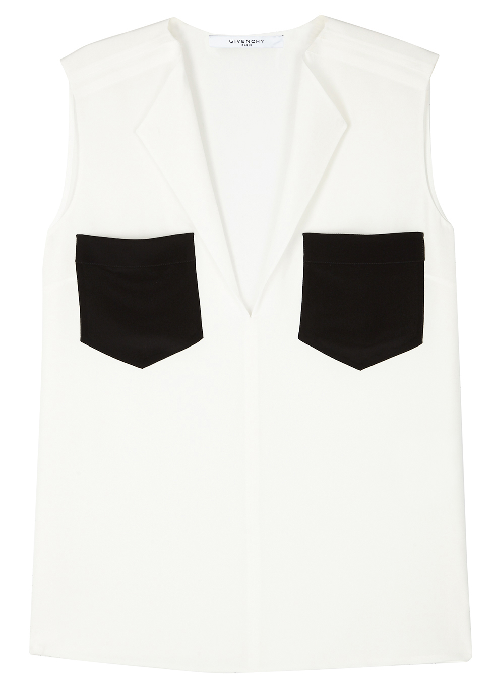 MONOCHROME SILK TOP