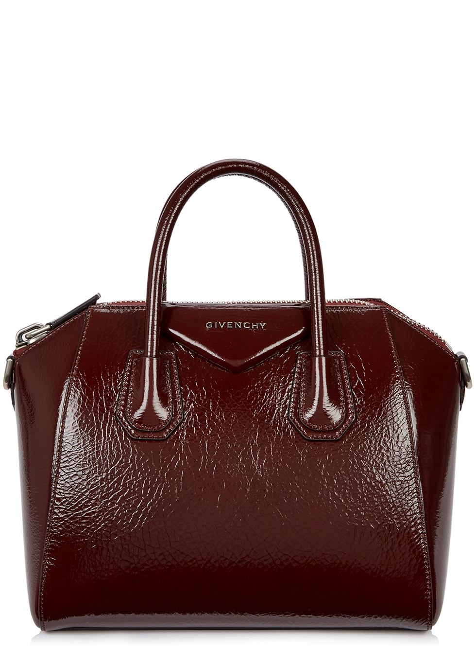 ANTIGONA SMALL BURGUNDY LEATHER TOTE