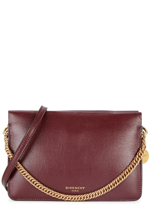 b985bd3637b5 Givenchy Cross3 aubergine leather cross-body bag - Harvey Nichols