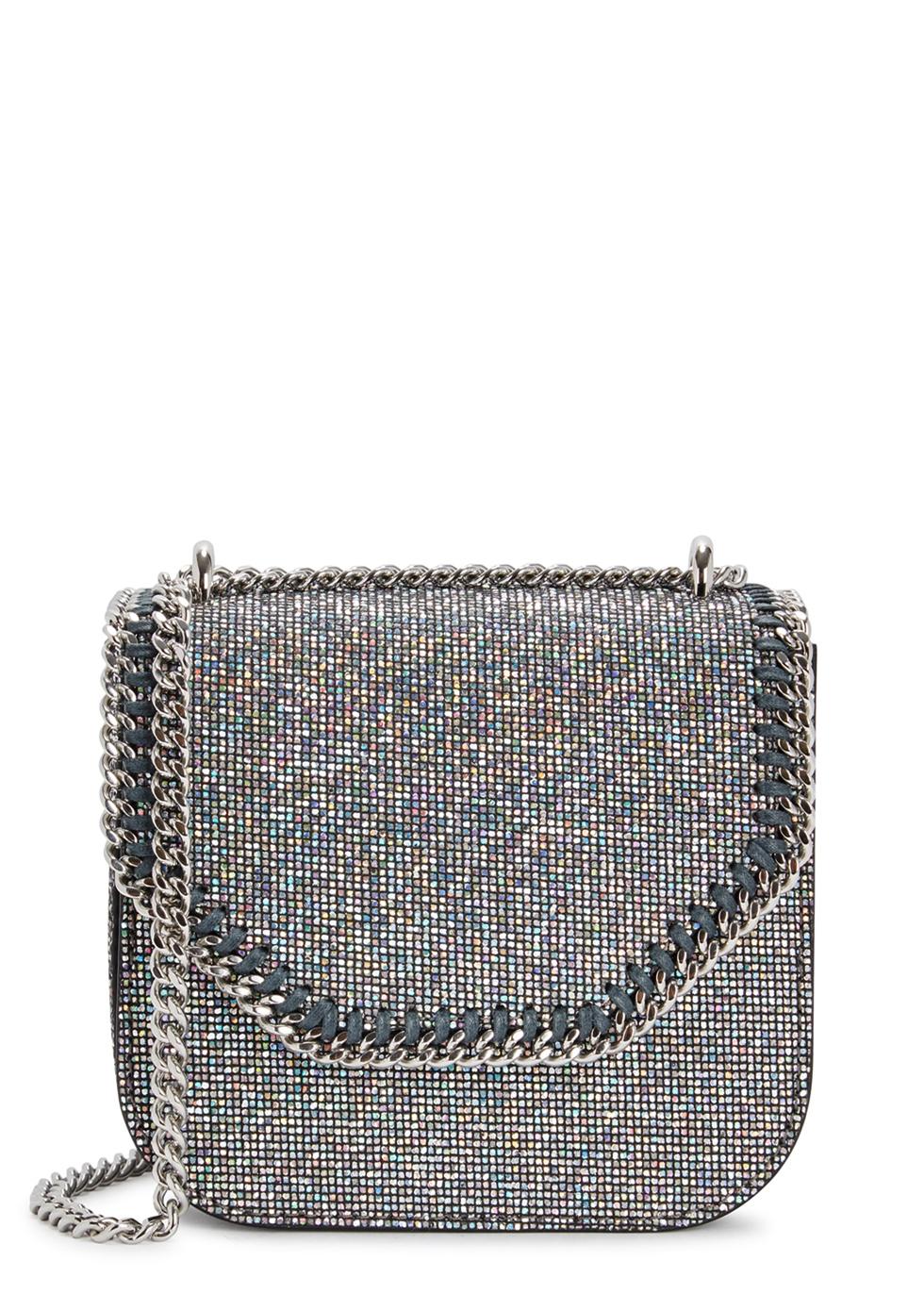 FALABELLA BOX GLITTERED SHOULDER BAG
