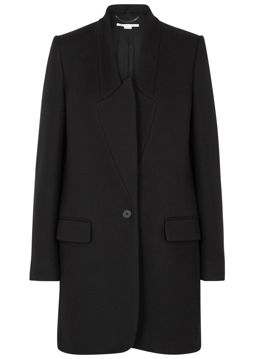 BRYCE BLACK WOOL COAT