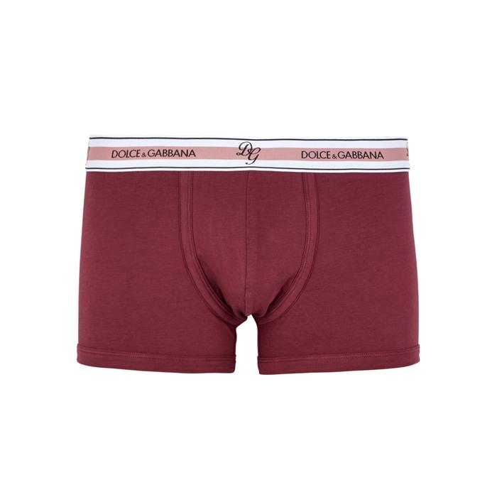 Dolce & Gabbana Burgundy Stretch-cotton Boxer Briefs thumbnail