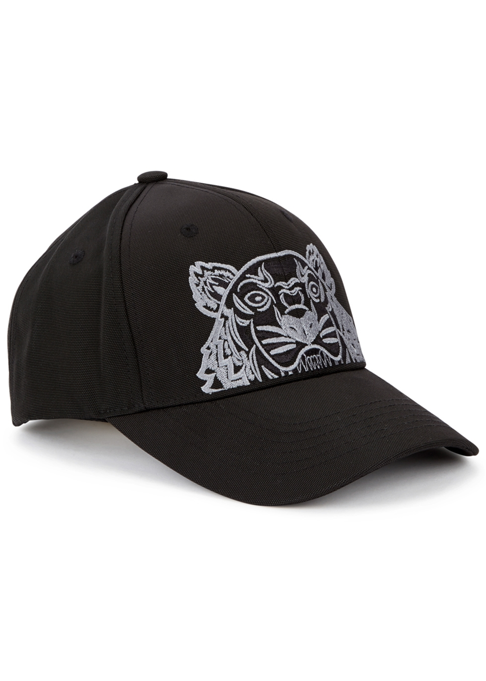 KENZO TIGER-EMBROIDERED COTTON TWILL CAP