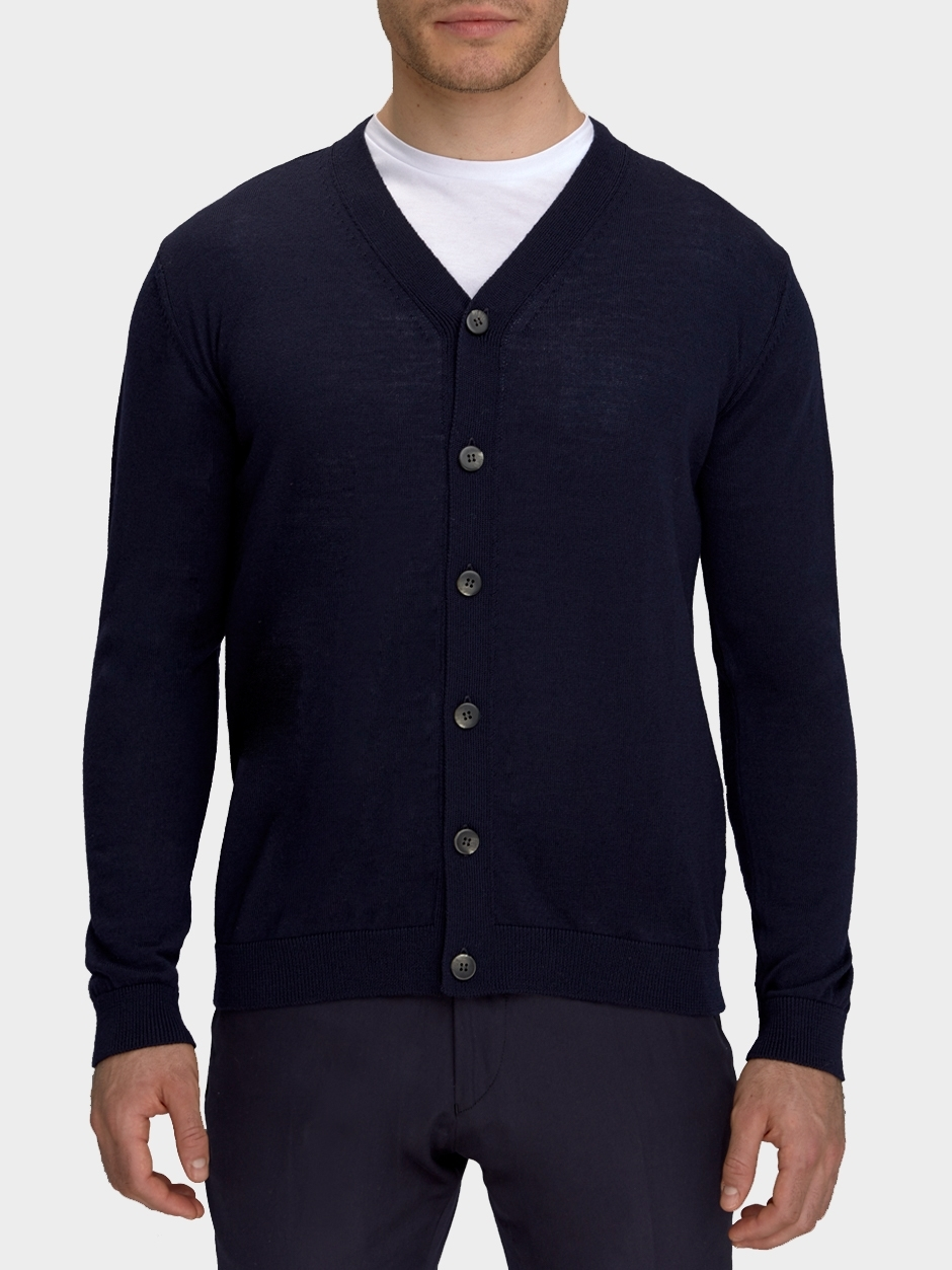 DUCHAMP LONDON Extra-Fine Merino Wool Cardigan