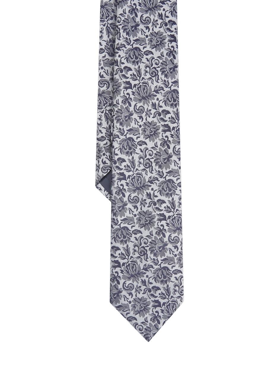 Tie With Floral Print - Comb3 flower dark Selected nTJSL8