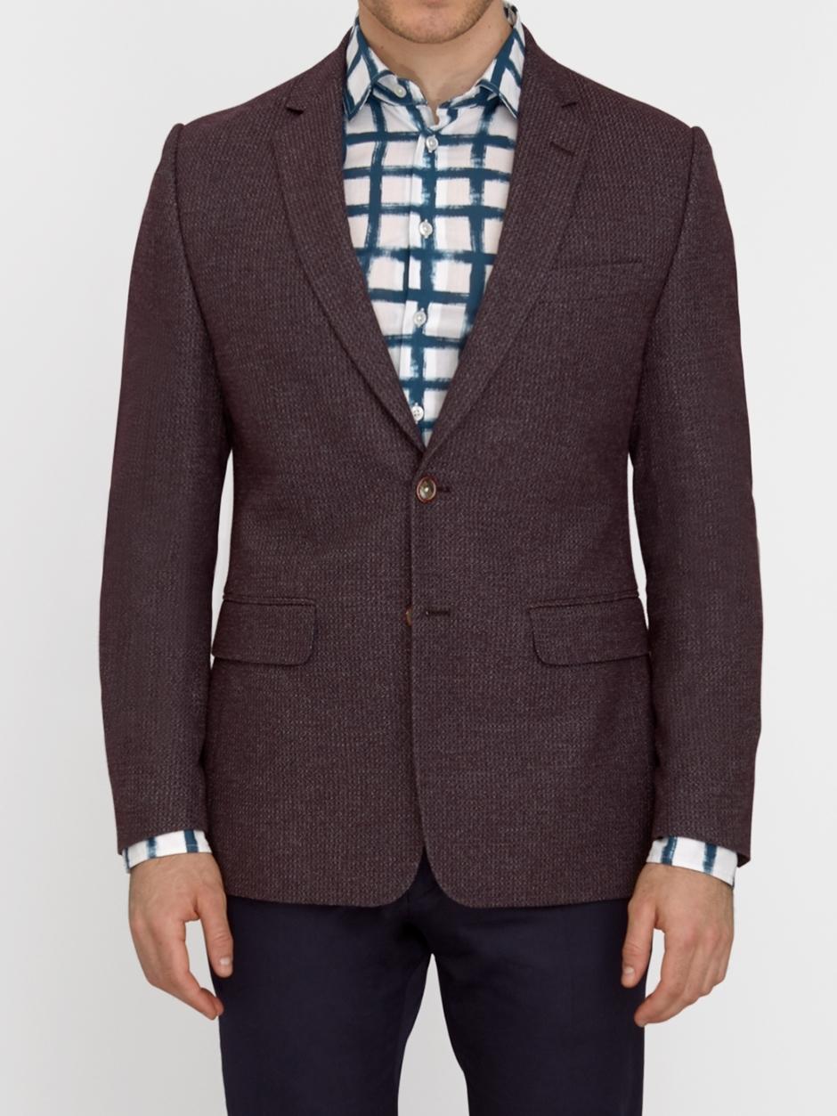DUCHAMP LONDON Notch Textured Weave Jacket