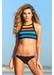 Maui panel bikini bottom black - Valimare