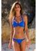 Bora bora twisted front bikini bottom electric blue - Valimare