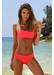 Santorini bandeau bikini bottom neon red - Valimare