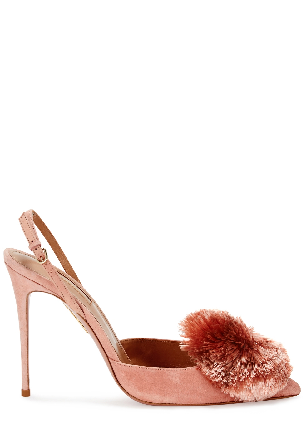 AQUAZZURA POWDER PUFF PEACH SLINGBACK PUMPS