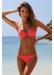 Rio cross triangle bikini top coral red - Valimare