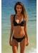 Laguna cross strap bikini top black - Valimare