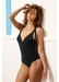 Cabo san lucas cross strap one piece black - Valimare