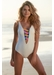 St martin bandage colour block one piece off white - Valimare
