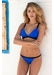 St barths colour block bikini top electric blue - Valimare