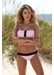 Hawaii zig zag bandeau bikini top pink - Valimare